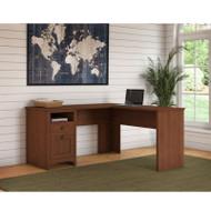 "Bush Furniture Buena Vista L-Shaped Desk 60""W, Serene Cherry - MY13630-03"