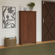 Bush Furniture Buena Vista Tall Storage Cabinet, Serene Cherry - MY13697-03