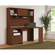 Bush Furniture Buena Vista Corner Desk with Hutch, Serene Cherry - BUV008SC