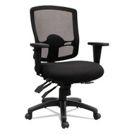 Alera Etros Series Mid-Back Multifunction with Seat Slide Chair Black -ET4217