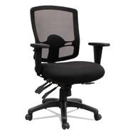 Alera Etros Series Mid-Back Multifunction with Seat Slide Chair Black -ET4217
