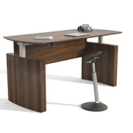 "Mayline Medina Laminate Height Adjustable Executive Desk 63"" Textured Brown Sugar - MNDHA63-TBS"