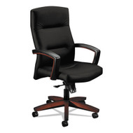 HON 5000 Series Park Avenue Collection Executive High-Back Knee Tilt Chair Oak Black - 5001NUR10