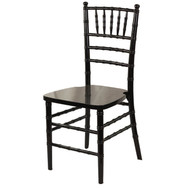 Wooden Chiavari Chair Black (Set of 4) - WCC4-BLK