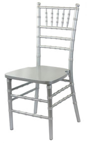Wooden Chiavari Chair Silver (Set of 4) - WCC4-SIL