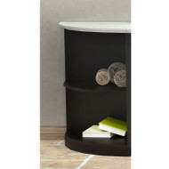 Mayline Medina Laminate Bookcase 2-Shelf Quarter Round Two-Tone Mocha and Textured Sea Salt - MVBQ2-TSDC
