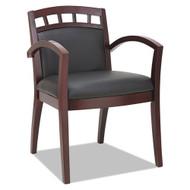 Alera Reception Guest Wood Chair, Mahogany/Black - RL5119M