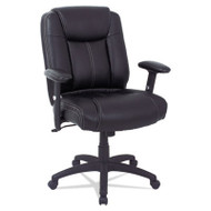 Alera CC Series Executive Mid-Back Leather Chair Black - CC4219