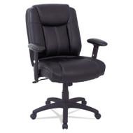 Alera CC Series Executive Mid-Back Leather Chair Black - CC4219