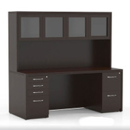 "Mayline Aberdeen Executive Desk Package 72"" Mocha - AT34-LDC"