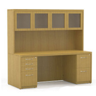 "Mayline Aberdeen Executive Desk Package 72"" Maple - AT34-LMA"