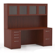 "Mayline Aberdeen Executive Desk Package 72"" Cherry - AT34-LCR"
