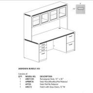 "Mayline Aberdeen Executive Desk Package 72"" Gray Steel - AT34-LGS"