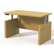 "Mayline Aberdeen Height Adjustable Executive Desk Straight Front 60"" Maple - ARDH6030-LMA"