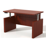 "Mayline Aberdeen Height Adjustable Executive Desk Straight Front 60"" Cherry - ARDH6030-LCR"