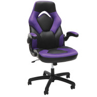 OFM Essentials by OFM Racing Style Leather Gaming Chair Purple - ESS-3085-PUR