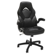 OFM Essentials by OFM Racing Style Leather Gaming Chair Black - ESS-3085-BLK
