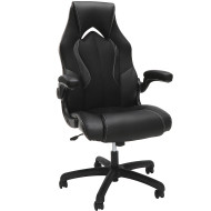 OFM Essentials Racing Style Leather Gaming Chair Black  - ESS-3086-BLK