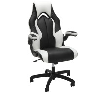 OFM Essentials Racing Style Leather Gaming Chair White - ESS-3086-WHT
