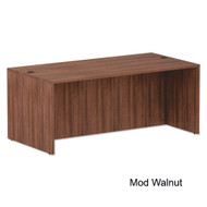 "Alera Valencia Collection Straight Front Desk Shell 72"" Walnut - ALE-VA217236WA"