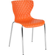 Flash Furniture Lowell Contemporary Design Orange Plastic Stack Chair - LF-7-07C-ORNG-GG