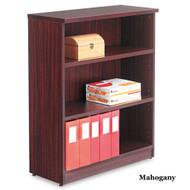 Alera Valencia Collection Bookcase 3-Shelf Mahogany - VA63-4432MY