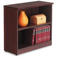 Alera Valencia Collection Bookcase 2-Shelf Mahogany- ALE-VA633032MY