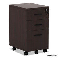 Alera Valencia Collection Mobile Box/Box/File Pedestal Mahogany - VA572816MY
