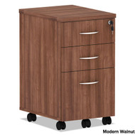 Alera Valencia Collection Mobile Box/Box/File Pedestal Modern Walnut - VA572816WA