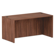 "Alera Valencia Collection Straight Front Desk Shell 60"" Modern Walnut - ALE-VA216030WA"