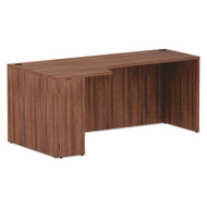 Alera Valencia Collection Left Corner Credenza Shell Modern Walnut - ALEVA25L7236WA
