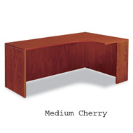 Alera Valencia Series Credenza with Right Corner Extension Medium Cherry - VA25R7236CH