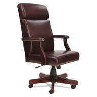 Alera Traditional Series High-Back Chair, Mahogany Vinyl -  TD4136