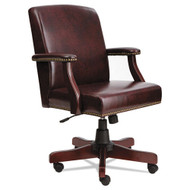 Alera Traditional Series Mid-Back Chair, Mahogany Vinyl -  TD4236