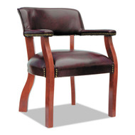 Alera Traditional Series Guest Chair, Mahogany Vinyl -  TD4336