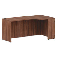 "Alera Valencia Series Credenza with Right Corner Extension 66"" Modern Walnut - VA25R6636WA"