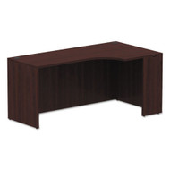 "Alera Valencia Series Credenza with Right Corner Extension 66"" Mahogany - VA25R6636MY"