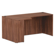 "Alera Valencia Collection Left Corner Credenza Shell 66"" Modern Walnut - ALEVA25L6636WA"