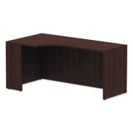 "Alera Valencia Collection Left Corner Credenza Shell 66"" Mahogany - ALEVA25L6636MY"