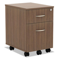 Alera Valencia Collection Mobile Box/File Pedestal Modern Walnut - VABFWA