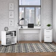 Bush Furniture Office Complete Small Desk Set White - OCU199PW-03K