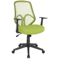 Flash Furniture Salerno Series High Back Green Mesh Office Chair with Arms - GO-WY-193A-A-GN-GG