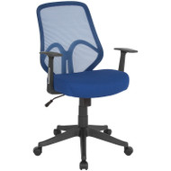 Flash Furniture Salerno Series High Back Navy Mesh Office Chair with Arms - GO-WY-193A-A-NVY-GG
