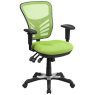 Flash Furniture Mid-Back Green Mesh Multifunction Executive Swivel Ergonomic Office Chair - HL-0001-GN-GG