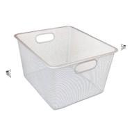 Alera Wire Mesh Nesting Shelving Baskets, 12 x 14 x 7 3/4, Silver, 2/Set - SW248SV