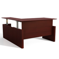 "Mayline Medina Height-Adjustable Straight Desk w Return 72"" - MNT51H-LMH"