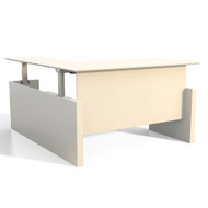 "Mayline Medina Height-Adjustable Straight Desk w Return 63"" - MNT52H-TSS"