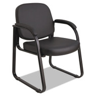 Alera Genaro Series Sled Base Guest Chair, Black Vinyl - RL43C16