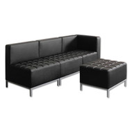 Alera QUB Series Armless L Sectional, 26 3/8 x 26 3/8 x 30 1/2, Black - QB8116