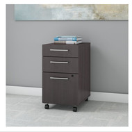 Bush Business Furniture 400 Series Mobile File Cabinet 3-Drawer - 400SMP3BBFSG